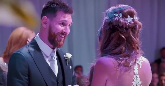 Inside Lionel Messi's star-studded wedding as wife Antonela shares romantic clip on pair's three-year anniversary